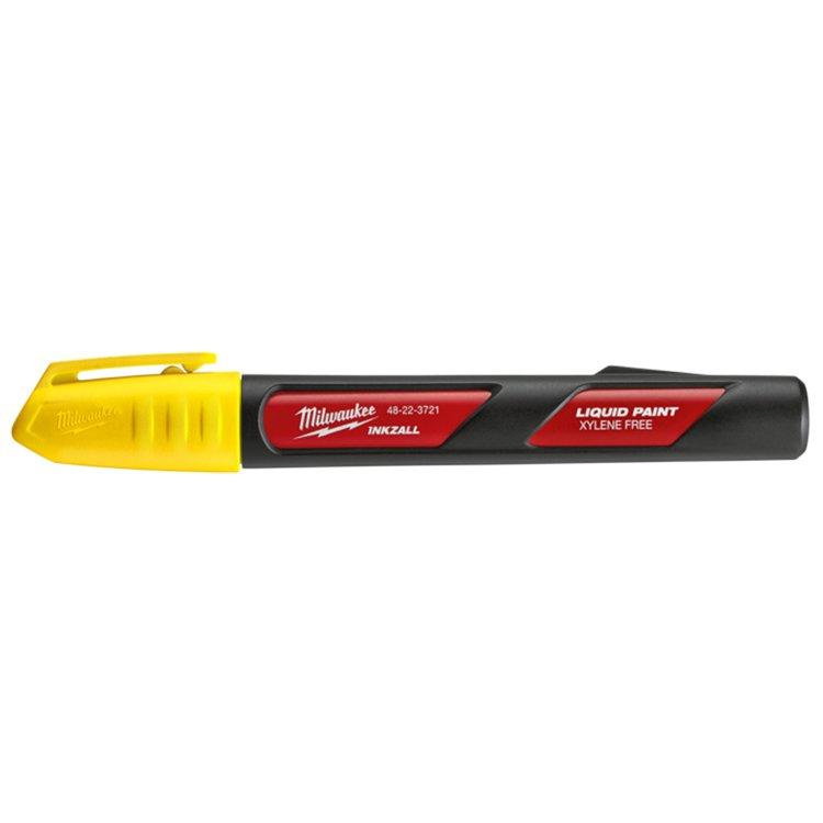 Milwaukee Inkzall Liq Paint Marker Yellow