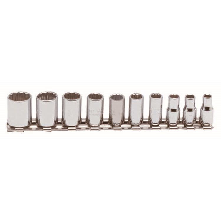 Proto 1/4 Inch Drive 10 Piece Socket Set - 12 Point