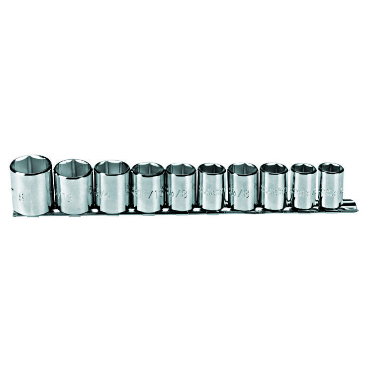 Proto Set Socket 3/8 Dr 10 Piece 6 Point