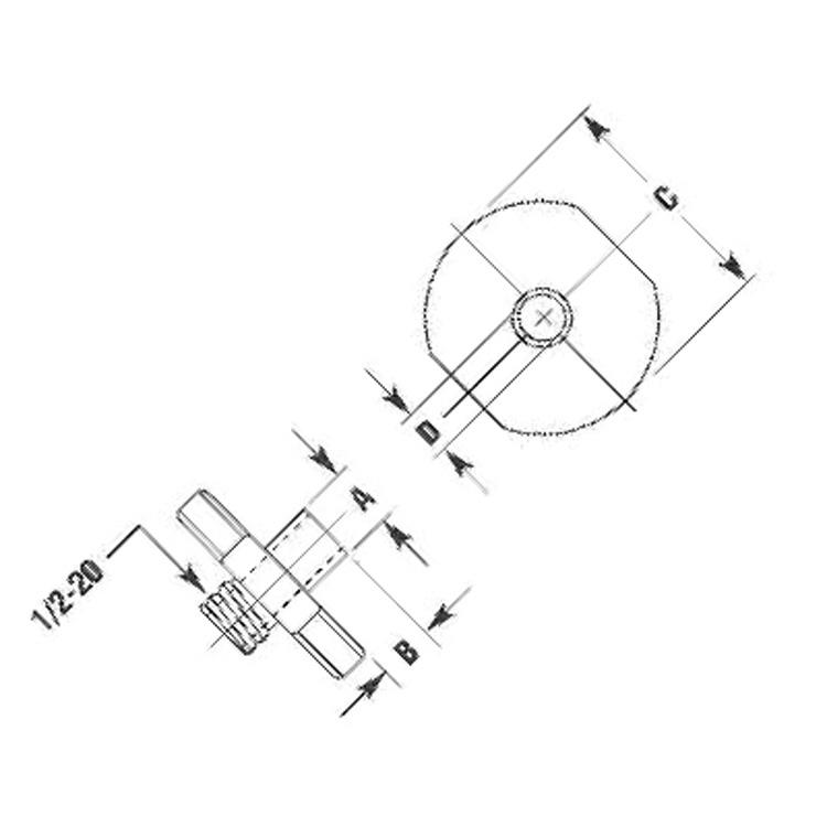 Template Guide for SRT10S25N Router Pilot 7/16 x 1/4 inch Flange 3/4 inch