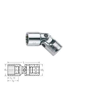 Stahlwille 402aK 1/4 Inch Drive UNIFLEX Universal Socket Short 9/16