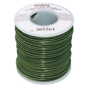 Green Preleg Wire 30 Awg 250Ft