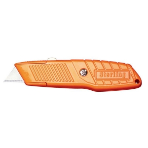 Orange Safety Auto-Retracting Knife