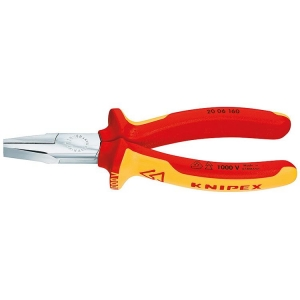Knipex Flat Nose Pliers Chrome Plated 160 mm