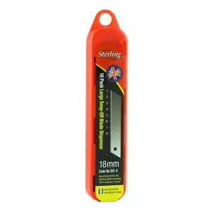 STERLING 18mm Large Snap - Off Blade (x10)