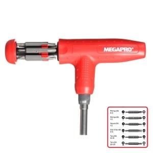 Megapro T-Handle Ratcheting Screwdriver