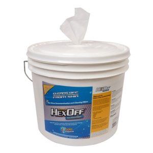 Hexoff No Rinse Disinfectant Wipes 500 in bucket - Click for more info
