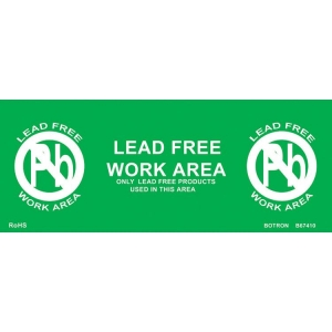 Lead Free Sign X 10 Per Pack