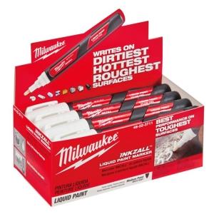 Milwaukee Inkzall Liq Paint Marker White Counter Display Box (order in lots of 1