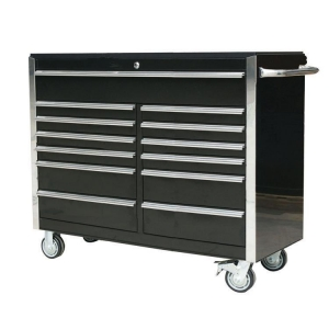 54 inch 13 Drawer Roller Cabinet Black - Click for more info