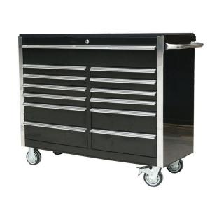 54 inch 13 Drawer Roller Cabinet Black
