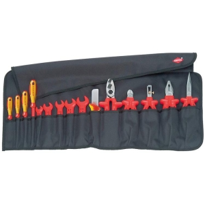 Knipex Tool Roll 15 Parts With Insulated Tools For Works On Electrical Installat