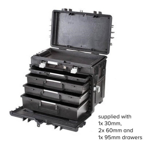GT Line All In One Tool Box 5 Empty Drawers,Tray
