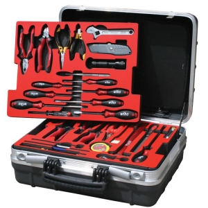 Wheeled Comprehensive Electronics Kit - Tool Selection ABEF in Foam Trays
