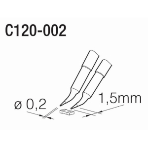 JBC C120 Tweezer Cartridge 0.2mm