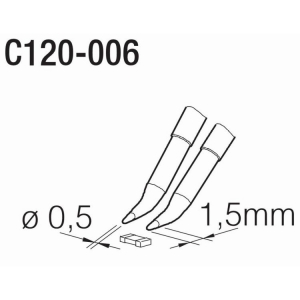 JBC PA120 Tweezer Cartridge 0.5mm Chisel