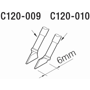 JBC C120 Tweezer Cartridge 6.0mm (Lh)