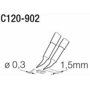 JBC PA120 Tweezer Cartridge 0.3mm Chip