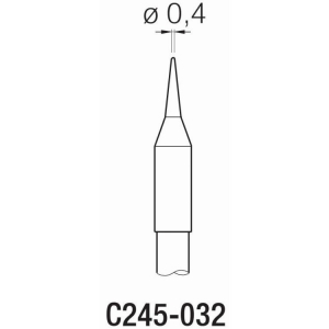 JBC T245 Cartridge 0.4mm Conical