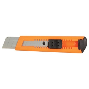 Orange 18mm Plastic Cutter Carded