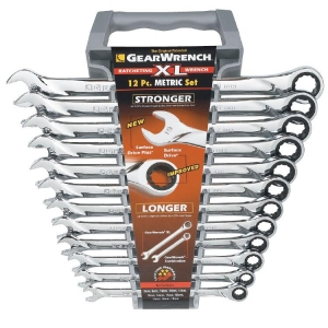 Gearwrench 12Pc Metric Xl Ratcheting Wrench Set