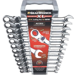 Gearwrench Xl Locking Flex Metric Spanner Set 12 Pc