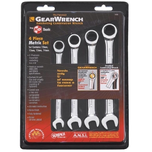 Gearwrench Ratcheting  Combination Set Metric 4 Pcs