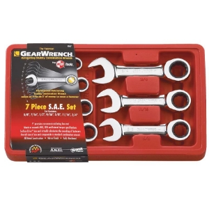 Gearwrench Stubby Sae Ratcheting Combination Set