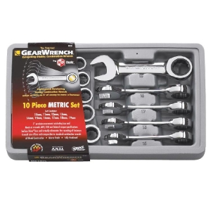 Gearwrench Stubby Metric Ratcheting Combination Set