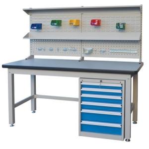 Workbench Economy 1800x750 Backboard 6 Drawers