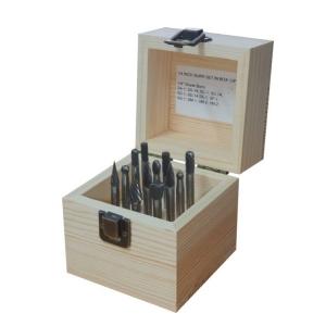 12 Pc 1/4 Inch Carbide Burr Set In Box