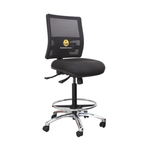 ESD Office Drafting Chair tall with foot ring - Click for more info
