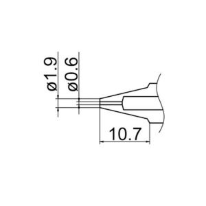 Hakko N1-06 Nozzle/0.6 mm for FM-2024