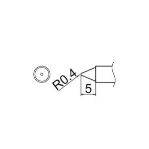 Hakko T12-B4 Soldering Tip Shape-0.4B for FM-2025. FM-2027. FM-2028. FX-9501