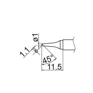Hakko T12-BC1 Soldering Tip Shape-1Bc for FM-2025. FM-2027. FM-2028. FX-9501