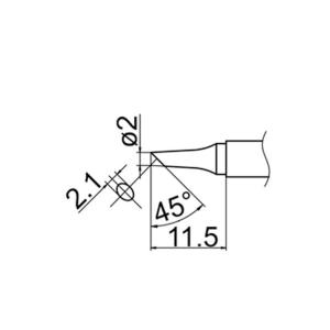 Hakko T12-BC2 Soldering Tip Shape-2Bc for FM-2025. FM-2027. FM-2028. FX-9501