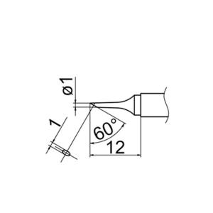 Hakko T12-C1 Soldering Tip Shape-1C for FM-2025. FM-2027. FM-2028. FX-9501