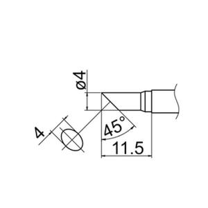 Hakko T12-C4 Soldering Tip Shape-4C for FM-2025. FM-2027. FM-2028. FX-9501