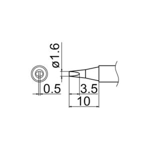 Hakko T12-D16 Soldering Tip Shape-1.6D for FM-2025. FM-2027. FM-2028. FX-9501
