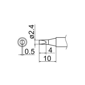 Hakko T12-D24 Soldering Tip Shape-2.4D for FM-2025. FM-2027. FM-2028. FX-9501