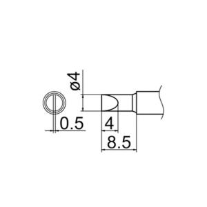 Hakko T12-D4 Soldering Tip Shape-4D for FM-2025. FM-2027. FM-2028. FX-9501