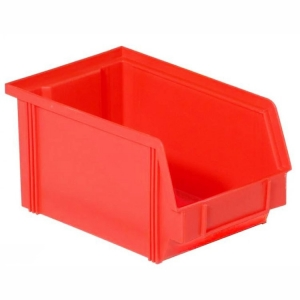 Henchman Dissipative ESD Bin Red 235 x 145 x 125mm - Click for more info