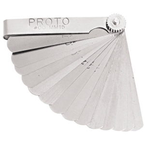 Proto Set Feeler Gauge Metric 15 Blade