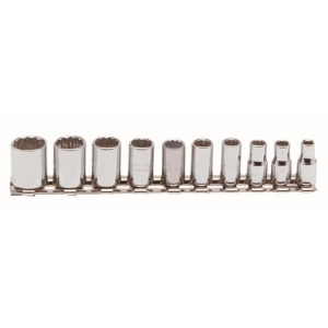 Proto 1/4 Inch Drive 10 Piece Socket Set - 12 Point