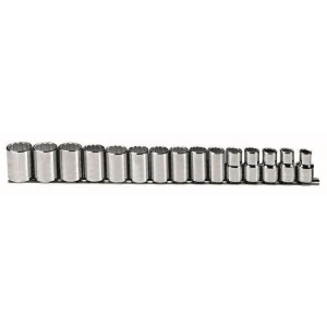Proto Set Socket 1/2 Dr 15 Piece 12 Point Metric