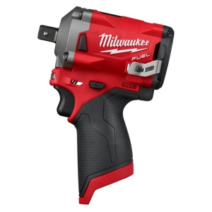 Milwaukee M12 FUEL 1/2 Inch Stubby Impact Wrench Pin Detent - Tool Only
