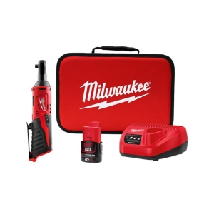 Milwaukee M12 3/8 Inch Impact Ratchet - 1 x 2.0Ah Battery, Charger, Contractor B
