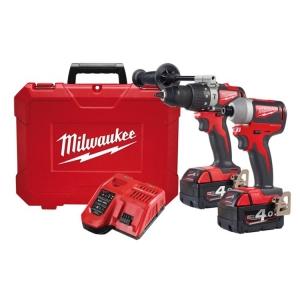 Milwaukee M18 Brushless 2 Piece Power Pack 2A2 (BLPD2, BLID2) 2 x 4.0Ah Kit