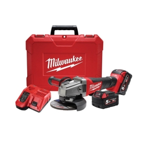 Milwaukee M18 FUEL 125mm Angle Grinder (DEADMAN Paddle Switch) Case, 5.0Ah Kit