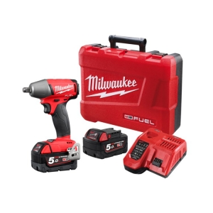 Milwaukee M18 FUEL Square Driver Impact Wrench, Friction Ring- 5.0Ah Kit